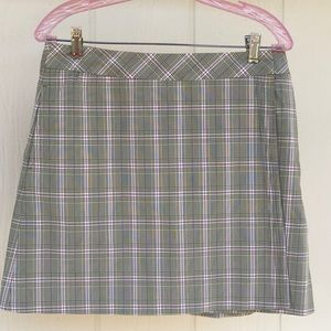 Gorgeous Golf Skort CUTTER & BUCK Sage Green Plaid